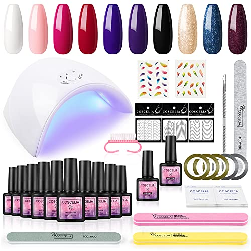 Saint-Acior UV Nagellack Gel Nägel Set 8ml Gellack UV Gelnägel Starterset UV Gel-Lack Maniküre Farbgel Set