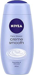 NIVEA Shower Gel, Crème Smooth Body Wash, Women, 250ml