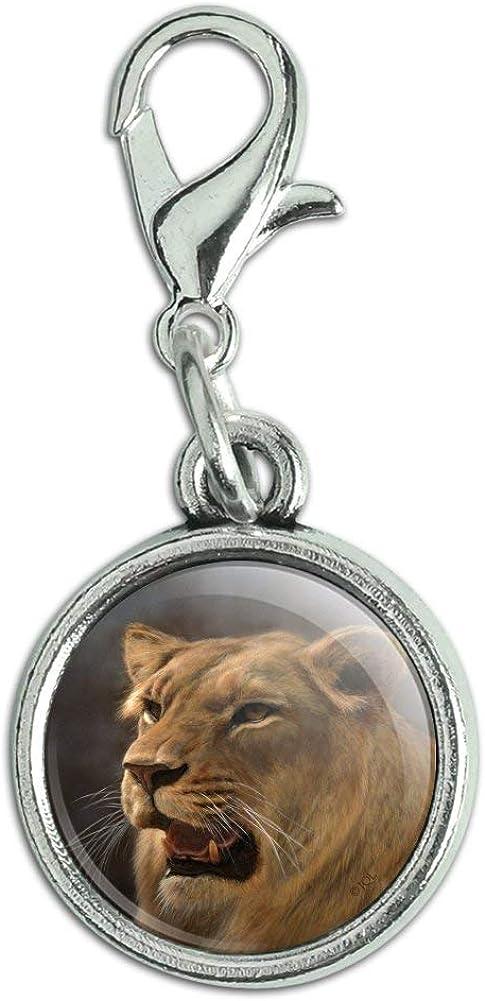 Year-end gift GRAPHICS MORE Lioness Female Lion Antiqued cheap Bracelet Zi Pendant