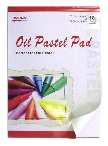 18 Blatt DIN A4 Zeichenpapier für Ölpastellmalerei, Grammatur: 230 g/m²