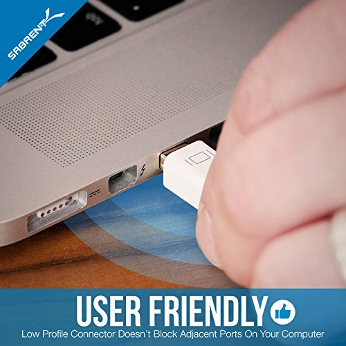 Sabrent 4K @ 60HZ Mini DisplayPort Thunderbolt 2 to HDMI Adapter [Gold Plated] (DA-MD4K)