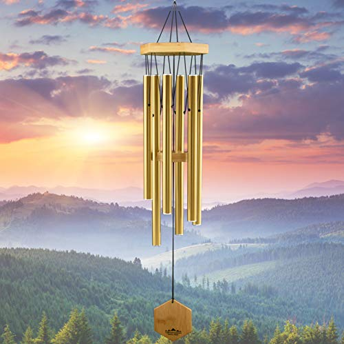 WIND CHIMES FOR PEOPLE WHO LIKE THEIR NEIGHBORS, Soothing Melodic Tones & Solidly Constructed...