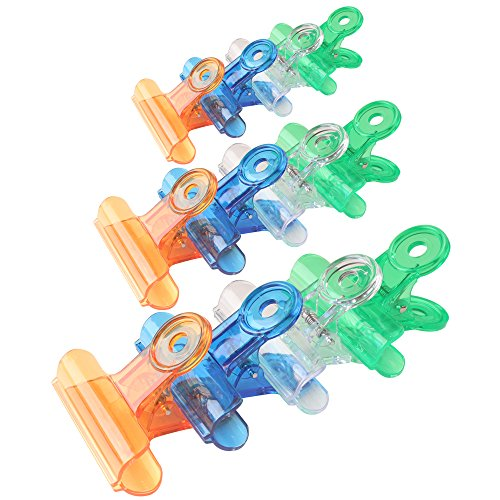 Z Zicome 30 Pack Plastic Chip Bag Clips Clamps, Assorted Sizes and Colors