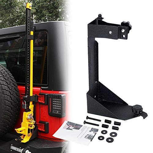 BEIJIAOFLY High Lift Jack Mount Rear Hi Lift Jack Mount Carrier Mounting Brackets for 2007-2017 Jeep Wrangle JK Offroad