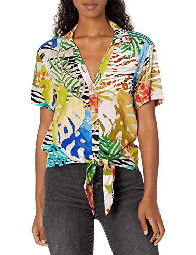Desigual Damen CAM_CREMONA Hemd, Mehrfarbig (Tutti Fruti 9019), Large (Herstellergröße: L)