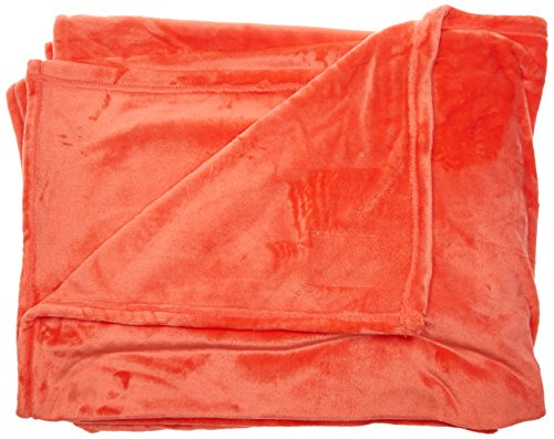 TOISON D'OR Couverture microvelours 320 GR/m², 100% Polyester, Corail, 180X220 cm