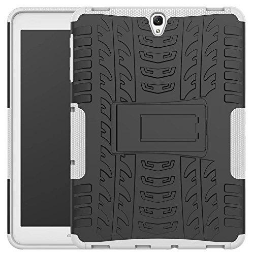 Galaxy Tab S3 9.7 Case, Kickstand Tough Rugged Hybrid Dual TPU+PC Hard Impact Armor Case for Samsung Galaxy Tab S3 9.7 inch (White)