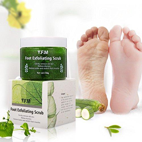 Exfoliant pour les pieds Y.F.M Gommage pour les pieds Gommage Purifiant, Hydrate, Nourrit, Apaise et Restaure votre Pieds en Bon Santé 150g Vert