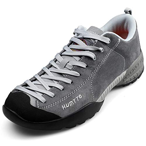 HUMTTO Men's Hiking Shoes Outdoor Sports Leather Waterproof Anti-Skid Casual Shoes Breathable