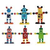 Sharplace 6 Piezas Juguetes de Acción de Robots Marionetas de Madera de Nogal Articulaciones Flexibles Poseable