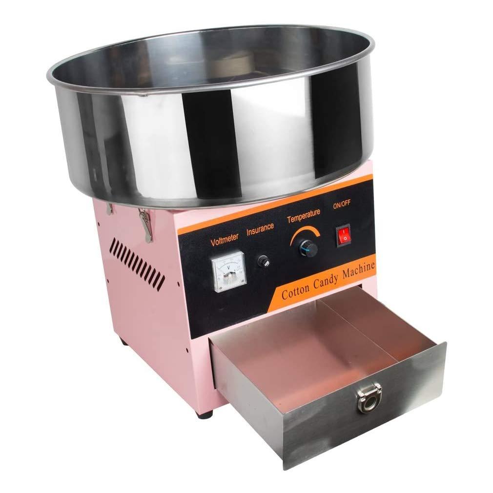 WWXXCC Algodón de azúcar eléctrica Cafetera, Máquina de algodón de azúcar, Dulce de azúcar Algodón de azúcar Maker para la Fiesta o Uso Comercial: Amazon.es