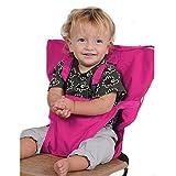 Uni Meilleur Bébé Portable Chaise Haute Voyage Sièges Housse de Sécurité pour Tout-Petits Chaise Haute Sangle Infantile Ceinture Sangle De Siège D'alimentation (rosa)
