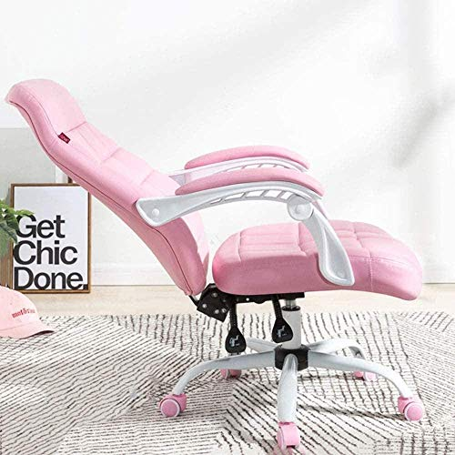 Bürostühle Stühle Computer Home Office Lift Reclining Swivel Pu Spiel kreativ/Rosa