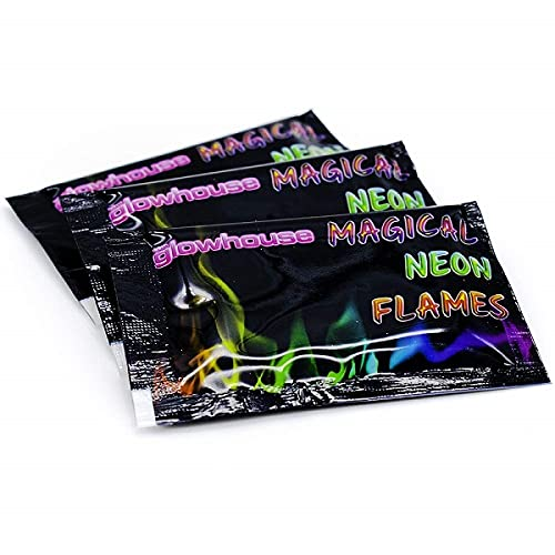 Pack of 8 Magic Neon Flames Fire Colourant Mystical Colour Changing Fl