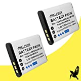 Two Halcyon 1200 mAH Lithium Ion Replacement Battery for Sanyo VPC-CG20 Dual Camera Digital Camcorder and Sanyo DB-L80