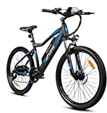 eAhora XC100 Plus 26'' Electric Bikes Upgrade 48V 14Ah Battery Ebikes for Adults, 350W Electric Mountain Bike for Men with 23 MPH, E-PAS System, Shimano 7-Speed and Suspension Fork