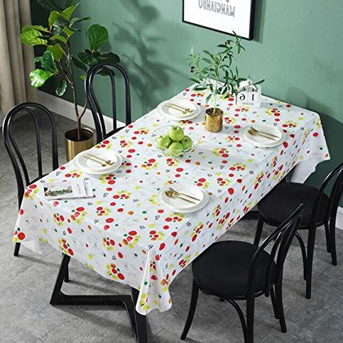 Damuzhi PVC wasserdichte Tischdecken Blumen Tischdecke Hintergrundtuch Tischdecke Wohnkultur 138X138 Jjjjj