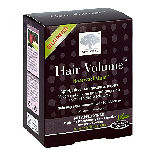 NEW NORDIC Hair Volume Haarwachstum Tabletten, 90 St. Tabletten