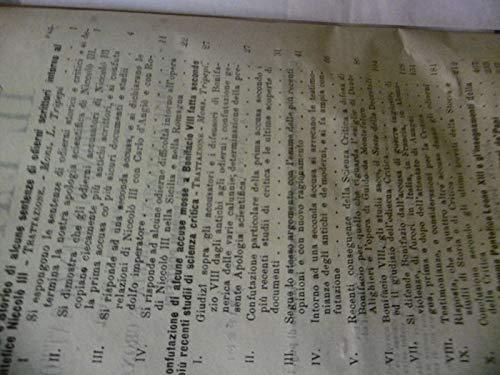 SENTENZE INTORNO AL PONTEFICIE NICOLO III IL PAPATO VL 15 N.60 RIPOGRAFIA DELLA PACE 1878