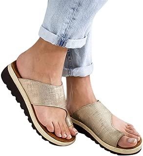 Womens Platform Sandals Summer Gibobby Women's 2019 Comfy Shoes Casual Beach Travel Shoes Fashion Sandal Slipper Flip Flop