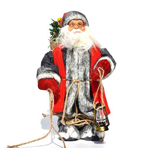 Felpa del Juguete Eléctrico, Juguete De Navidad De Santa Claus Muñeca para Mesa De La Sala...
