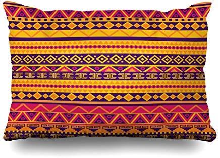 Cultura Marrón África brillante patrón tribal abstracto geco naranja suroeste viaje africano latino fundas de cojín 40 x 60 cm para decoración del hogar sofá Throw funda de almohada Navidad cumpleaños regalos idea