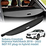 Vesul Retractable Cargo Cover Fit for Subaru Crosstrek Impreza Hatchback 2018 2019 2020 2021 2022 Security Shade Shield Tonneau Cover Anti-Peeping Luggage Privacy Screen All Weather Protection