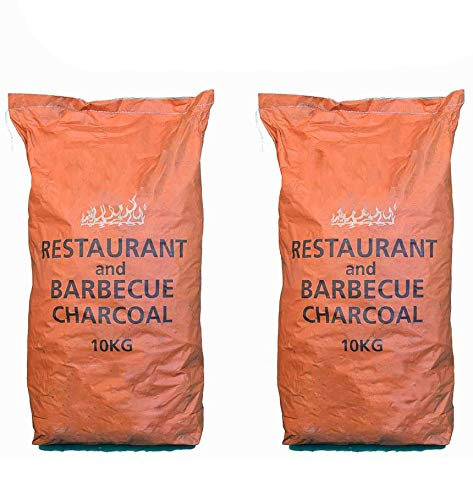 Restaurant Grade Cooking Lumpwood Charcoal 2 x 10kg, Perfect For Charcoal BBQ's, Large Chunks For Longer Burning Barbecues