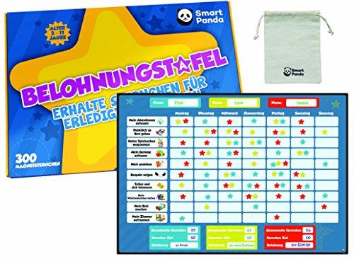 Belohnungstafel für Kinder – perfekt für Kleinkinder, zum Lernen von Verantwortung und für das Sauberkeitstraining – enthält 20 Magnet-Aufgaben Und 300 Sterne - auf Deutsch