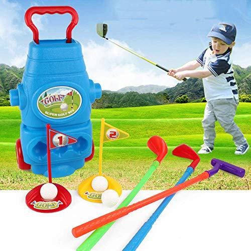 WJSW Golfspiel für Kleinkinder im Freien Putting Golf mit abnehmbaren Golfschlägern und Golfwagen, Zwei Arten von Verpackungen