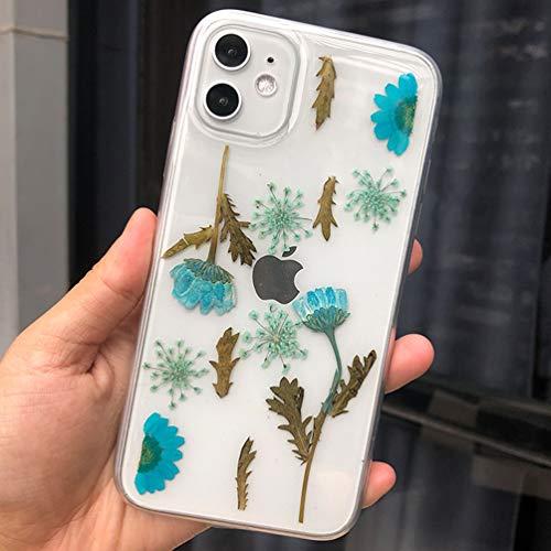 Tybaker Funda para iPhone XS, iPhone X, funda para teléfono móvil, diseño de flores secas, hecha a mano con gel, diseño de flores eternas, para iPhone XS/X (5,8 pulgadas)