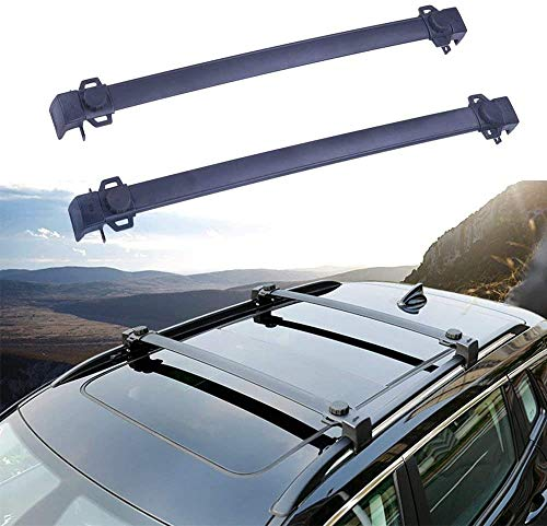 BUSUANZI Conjunto de Barras transversales para portaequipajes de Techo de Coche Apto para Jeep Compass 2017 2018 2019 2020 Accesorios de Viaje para baranda de Aluminio