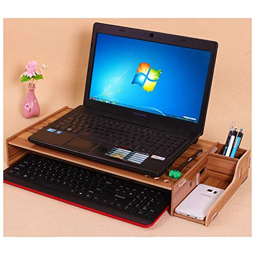 MUYUNXI Kers Hout Hals Houten Laptop Koeling Rack - Desktop Keyboard Opbergdoos Lengte 58 Cm * Breedte 28 Cm