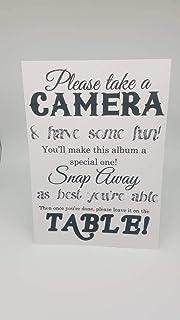 Ced454sy Cartel de cámara desechable para Boda Fotos de Boda Firma Boda impresión cámara en tablecamera