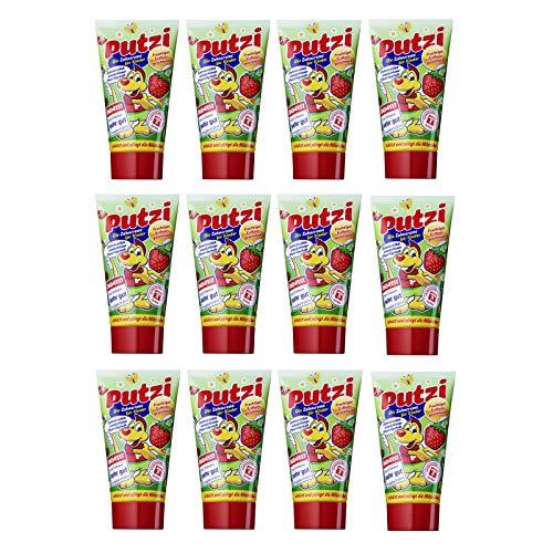Putzi Erdbeere Zahncreme 50ml, 12er Pack (12x 50ml)