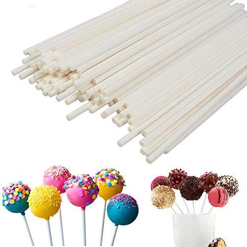 Lollipop Sticks 100Pcs Candy Making Sucker Sticks 6 Inch for Cake Pop ,DIY Homemade Fruit Candy ,Chocolate