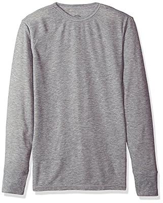 Dickies Men's Technical Wool Thermal Top, Heather Grey, Medium