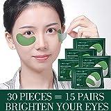 PMSMT Máscara de Ojos con Esencia de Algas de Cristal, Parches para los Ojos, Bolsas para los Ojos, removedor de ojeras, Gel hidratante para la Cara, Cuidado Antiarrugas R2J7