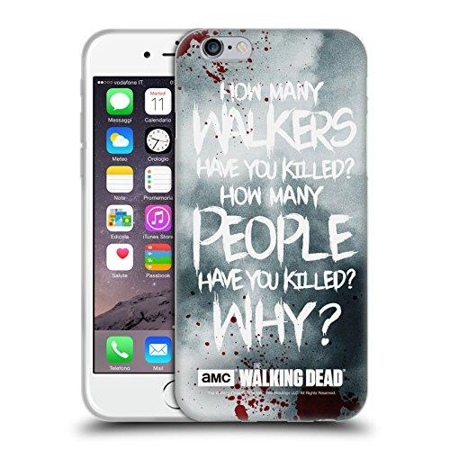 Offizielle AMC The Walking Dead Rick Questions Zitate Soft Gel Huelle kompatibel mit Apple iPhone 6 / iPhone 6s