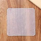 Cubierta de silicona Tapas elásticas de silicona reutilizables Tapa de sellado de envoltura de silicona multifuncional Herramienta de mantenimiento fresco para alimentos - Transparente 200 * 200 * 10