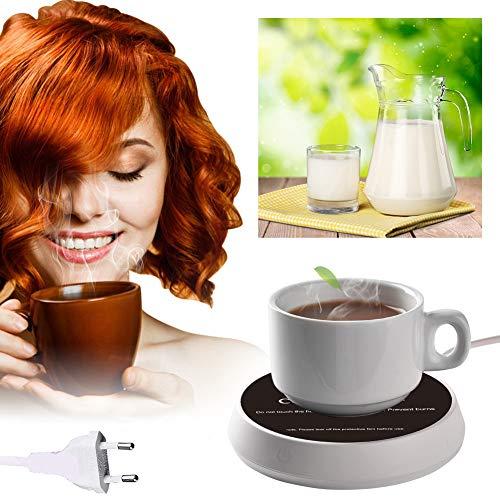 SCOBUTY Calentador de Café,Calentador de Bebidas Portátil,Calentador De Café Inteligente,con Dos configuraciones de Temperatura, para café, Leche, té, Agua
