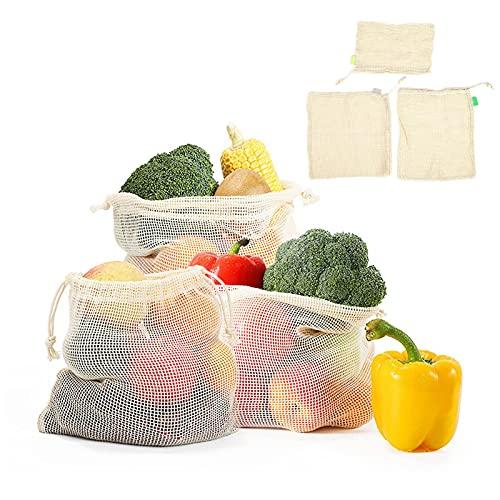 LZKW Bolsa para Frutas, Verduras Bolsas para comestibles Bolsa de Malla Resistente al Desgaste de Grado alimenticio Durable para Pasatiempos para cosméticos para Almacenamiento de Juguetes