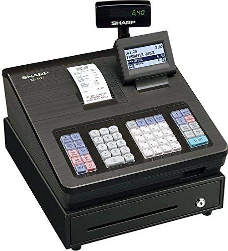 SHARP XEA177BK Elektronische Kasse XE-A177, schwarz