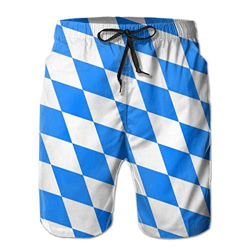 yting Herren-Badehose mit bayerischer Flagge und Badehose mit Netzfutter für Herren,Größe M