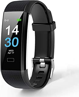 Fitness Tracker, Waterproof IP68 Fitness Smartwatch Wristband with Heart Rate Monitor 0.96 Inch Color Screen Pedometer Watch Heart Rate Monitors Activity Tracker Fitness Watch for Women Men Children