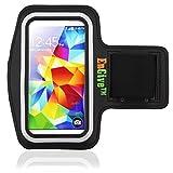 ENGIVE schwarz Gym Joggen Sportarmband Schutzhülle für Samsung Galaxy S5