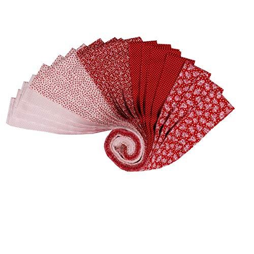 Robert Kaufman 0643071 Kaufman Southern Belles 2.5'' Roll Ups Redwork 40pcs Stoff, Textil, Each