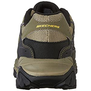 Skechers Men's AFTERBURNM.FIT Memory Foam Lace-Up Sneaker, Pebble/Black/Pebble, 10.5 M US