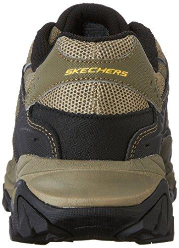 Skechers mens Afterburn M. Fit fashion sneakers, Pebble/Black/Pebble, 12 X-Wide US