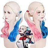 thematys Harley Quinn Perücke - Kostüm Zubehör für Damen - perfekt für Fasching, Karneval &...